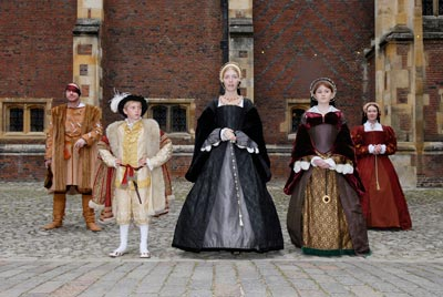 Children dressed in Tudor costume
