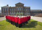 Staff outside the front of Kensington Palace