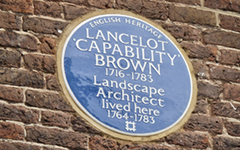 Capability Brown's Blue Plaque at Hampton Court Palace
