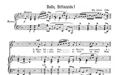 Rule Britannia music sheet