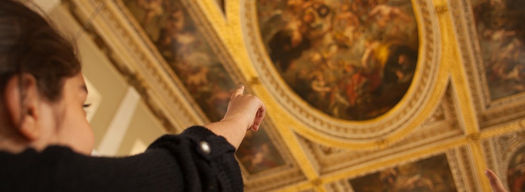 Learning about Rubens' ceiling at Banqueting House