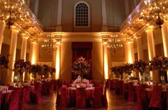 Banqueting House main hall dressed for an event