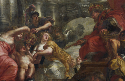 Detail from Rubens' ceiling, Banqueting House