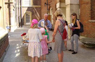 Volunteers at Hampton Court Palace