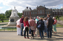 Volunteers outside Kensington Palace