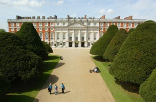 The East Front of Hampton Court Palace
