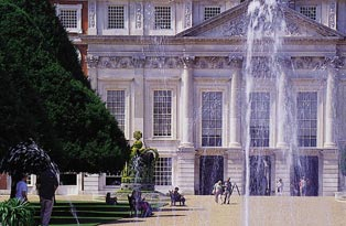 East front and fountain