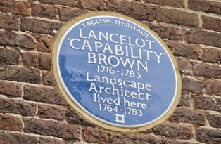 Capability Brown Blue Plaque at Hampton Court Palace