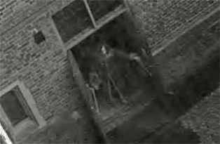 Still from CCTV footage reported as showing a ghost