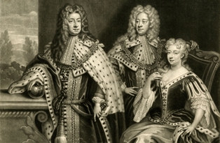 George I with the future George II and Queen Caroline