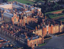Hampton Court Palace from the air.