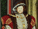 A painting of Henry VIII. On loan from the Walker ArtGallery