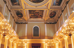 The inside of the Banqueting House