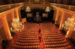 An awards ceremony at Banqueting House main hall