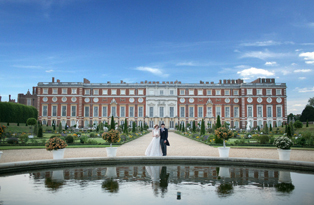 A wedding at Hampton Court Palace