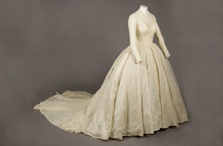 Front of Princess Margaret's wedding dress