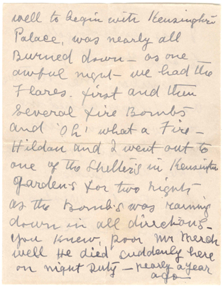 A letter from Kensington Palace, 1942