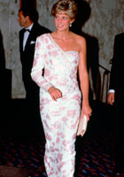 Catherine Walker dress worn by Diana, Princess of Wales. Photo: Tim Graham / Getty Images