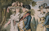 George III and Queen Charlotte in Kew Gardens