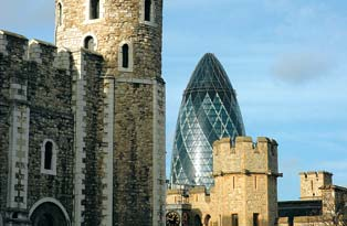 White Tower and Gherkin