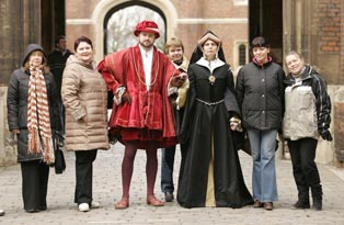 Costumed Guides with visitors
