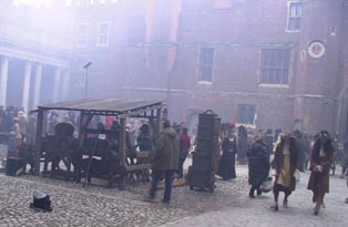 Filming in Clock Court