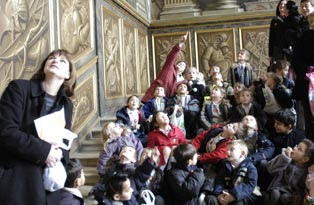 A group of children on the King's staircase
