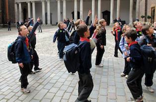 Scouts in Clock Court