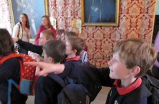 Pupils in Hampton Court Palace