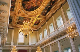 The interior of the Banqueting House