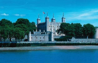 The Tower of London from across the river