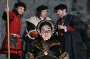 Re-enactment of the trial of Anne Boleyn