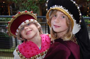 Children in costume at the Tower family fun day