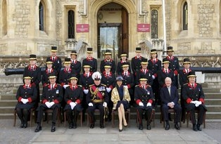 HRH Princess Royal with Jewel House Warders