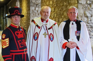 Reverend Roger Hall MBE becomes the first Canon at the Tower of London in over 300 years