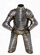 Boy's light cavalry armour belonging to King Edward VI, in about 1550
