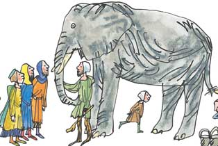 Elephant illustration by Tim Archbold