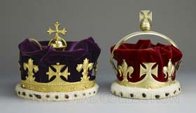 The Crowns of Frederick Prince of Wales and George Prince of Wales