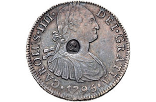 Countermarked coin. Photo: Classical Numismatic Group, Inc.