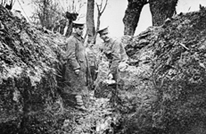 The 2nd Scots Guards in the trenches, copyright IWM