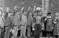 Swearing the oath of allegiance at the Tower of London