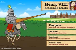 Joust for Henry VIII in our game