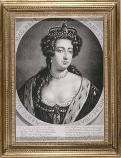 A portrait of Queen Mary