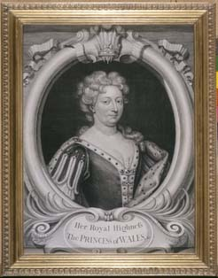 A portrait of Queen Caroline