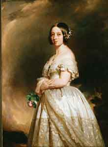 A portrait of Princess Victoria