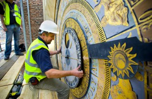 Conservation work of Henry VIII's astronomical clock