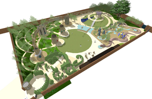 Plan for the Magic Garden, Hampton Court Palace