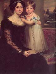 A portrait of the Duchess of Kent and Princess Victoria (c The Royal Collection)