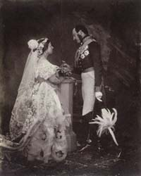 A photograph of Queen Victoria and Prince Albert (c The Royal Collection)