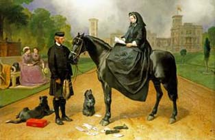 A portrait of Queen Victoria and John Brown (c The Royal Collection)